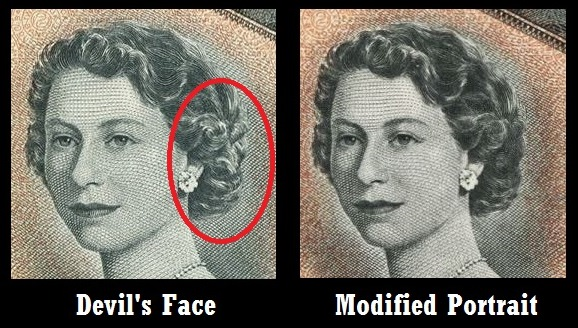 1954 Canadian Currency: Devil's Face vs  Modified Portrait